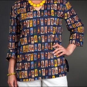 Tracy Negoshian blue print tunic
